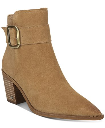 Sam Edelman Leonia Buckle Booties & Reviews - Boots & Booties - Shoes - Macy's