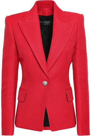 Piqué blazer | BALMAIN | Sale up to 70% off | THE OUTNET