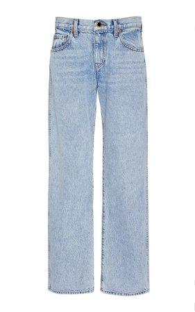 Kerrie Mid-Rise Straight-Leg Jeans by Khaite   Moda Operandi