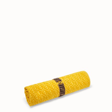 Yellow cotton beach towel - BEACH TOWEL | Fendi