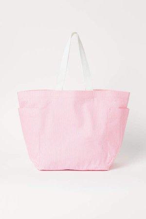 Large Canvas Shopper - Pink