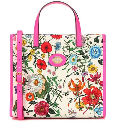 Flora Medium canvas tote
