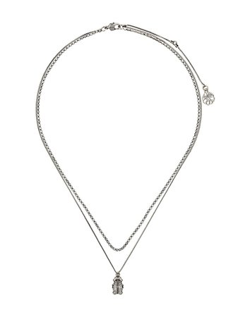 Alexander McQueen Beetle Pendant Necklace - Farfetch