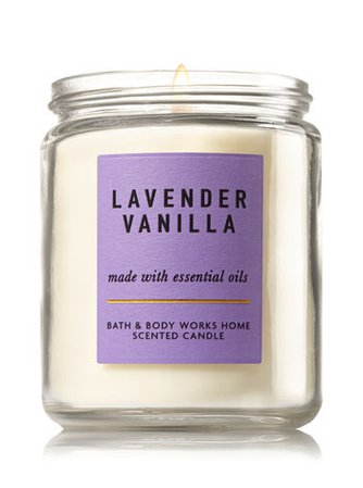 Lavender Vanilla Scented Candle (Bath + Body Works)
