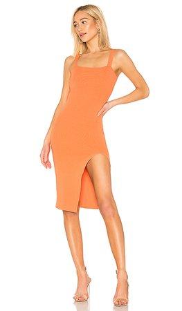 superdown Zoe Square Neck Dress in Orange | REVOLVE