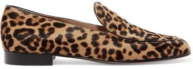 Leopard-print Calf Hair Loafers - Leopard print