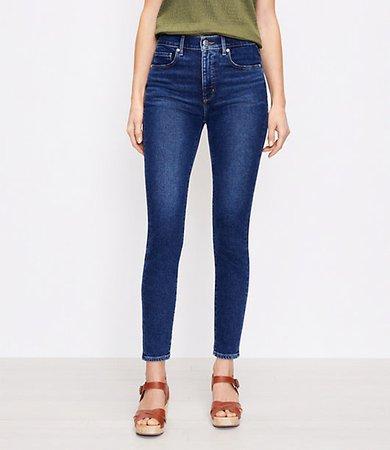 The High Waist Skinny Jean in Pure Dark Indigo Wash