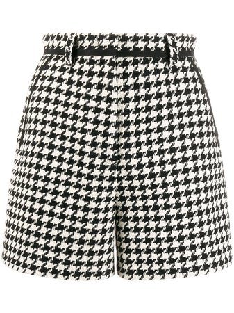 Msgm Houndstooth Pattern Shorts Ss20 | Farfetch.com