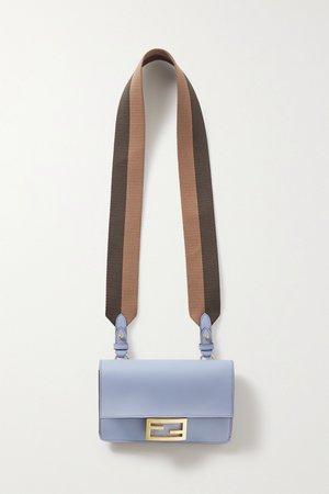 Blue Flat Baguette medium leather shoulder bag | FENDI | NET-A-PORTER