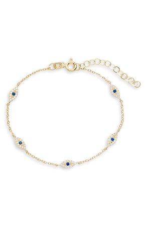 Adina's Jewels Evil Eye Bracelet | Nordstrom