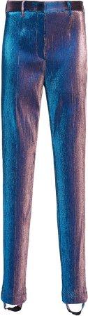 Stirrup High-Rise Metallic Skinny Pants
