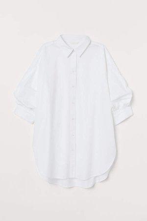 Short-sleeved Cotton Shirt - White