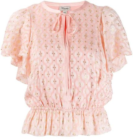 Suki front-tie blouse