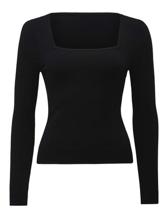 Esther Square Neck Knit Top - Womens Fashion Online | Ever New Clothing
