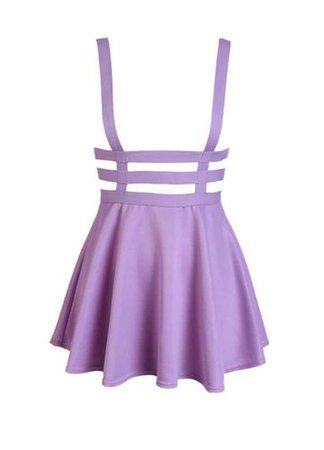 ANTIBrand Pastel Goth Lilac Suspender Skirt