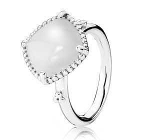 pandora white stone ring - Google Search