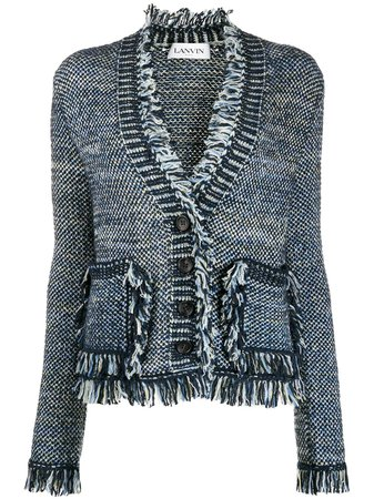 LANVIN, fringed knitted cardigan