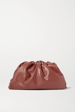 Bottega Veneta | The Pouch large gathered leather clutch | NET-A-PORTER.COM