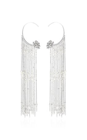 Tatiana Verstraeten Rain Pearl Fringe Earrings