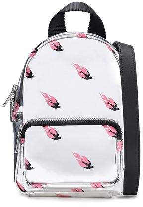 Printed Faux Mirrored-leather Backpack