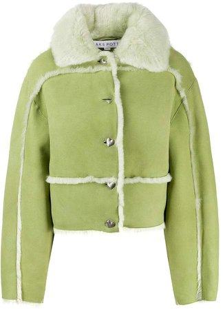 short shearling trim jacket