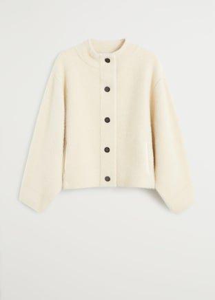 Textured button cardigan - Women | Mango USA