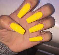 coffin mustard yellow nails - Google Search