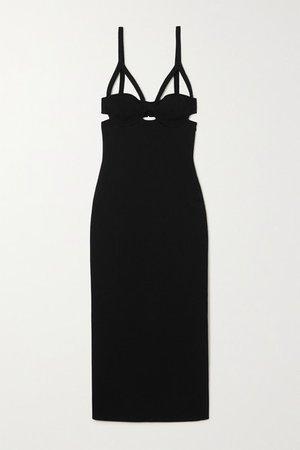 Honour Cutout Stretch-jersey Midi Dress - Black