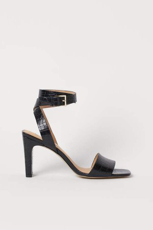 Leather Sandals - Black