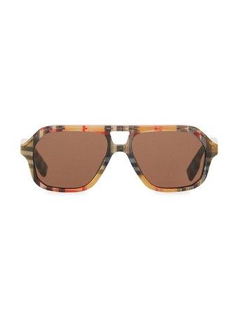 Burberry Kid's Wade Vintage Check Aviator Sunglasses | SaksFifthAvenue