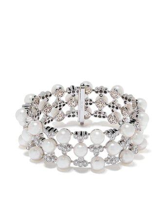 Yoko London x Ramadan 18kt White Gold Raindrop Japanese Akoya Pearl And Diamond Bracelet - Farfetch