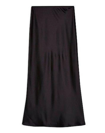 Μακριά Φούστα Topshop Black Satin Bias Maxi Skirt - Γυναίκα - Μακριές Φούστες Topshop στο YOOX - 35437452HO
