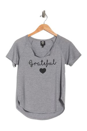 Bobeau | Short Raglan Sleeve Graphic Print T-Shirt | Nordstrom Rack