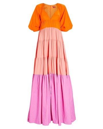 STAUD Meadow Colorblock Maxi Dress | INTERMIX®