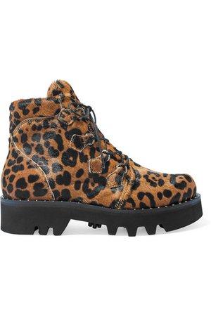 Tabitha Simmons | Neir leopard-print calf hair ankle boots | NET-A-PORTER.COM