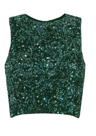 green sequin  shirt
