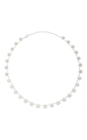 Colette Jewelry Glow Stars 18K White Gold and Diamond Necklace