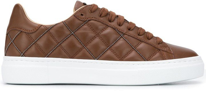 Quilted Low-Top Sneakers