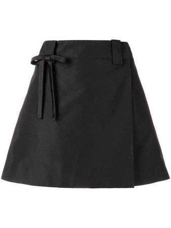 Prada bow detail A-line skirt