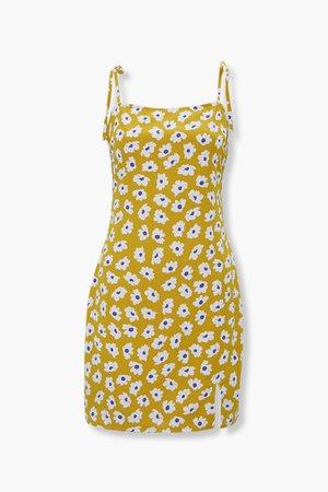 Floral Tie-Strap Mini Dress | Forever 21