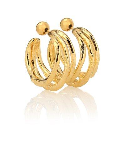 Vine Large 18Kt Gold-Plated Hoop Earrings | Sophie Buhai - Mytheresa