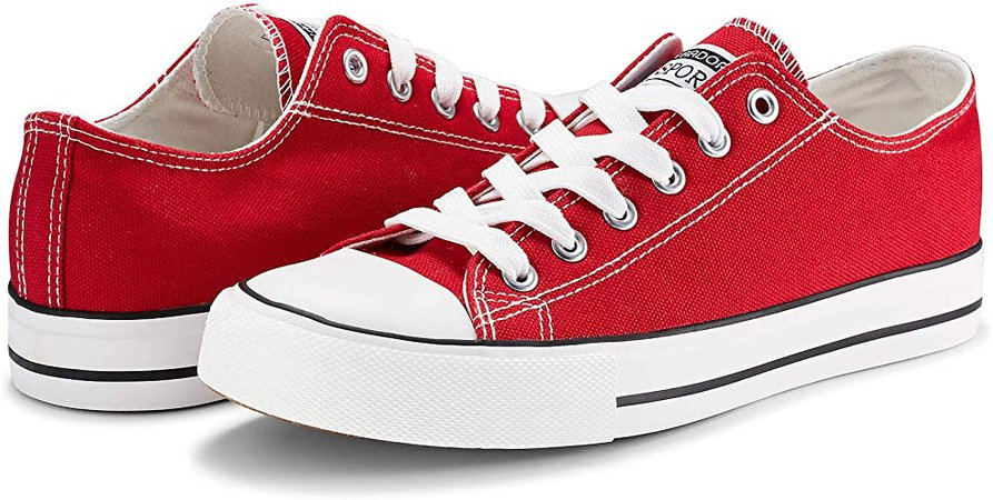 Amazon.com   Womens Sneakers Casual Canvas Shoes Classic Low Cut Lace up Comfortable Tennis Walking Shoes Orange 9 US   Fashion Sneakers