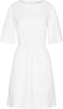 St. Agni Hoshi Linen-Cotton Puff Sleeve Mini Dress