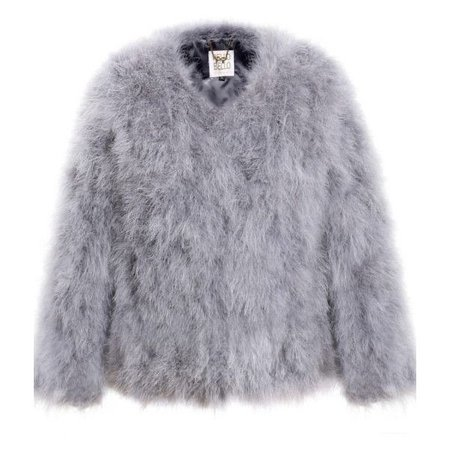 Fluffy Fur Fever Jacket Silver Grey ($125)