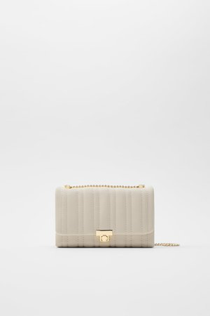 QUILTED MINI CROSSBODY BAG | ZARA United States ivory
