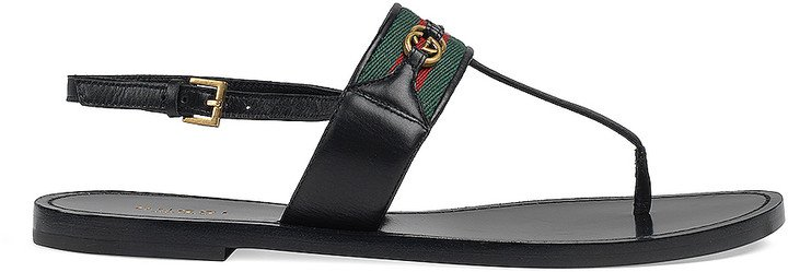 Siryo Thong Sandals in Nero | FWRD