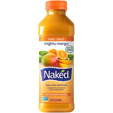 Naked Juice Fruit Smoothie, Mighty Mango, 32 oz Bottle - Walmart.com