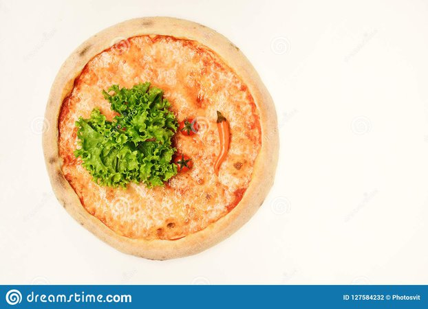 Take Away Food With Crunchy Edges. Pizza Margherita Stock Photo - Image of italy, american: 127584232