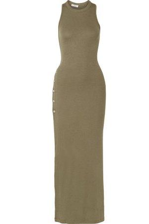 Alix | Beekman ribbed stretch-modal jersey maxi dress | NET-A-PORTER.COM