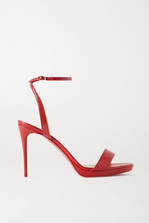 Loubi Queen 100 Leather Sandals - Red